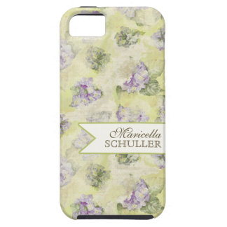 Vintage Blue Hydrangea French Wallpaper Floral Art iPhone 5 Cover
