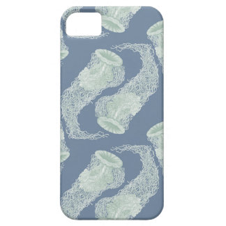 Vintage Blue Jellyfish iPhone 5 Case