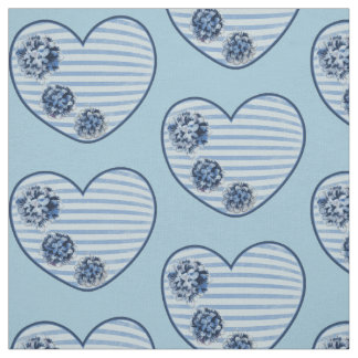 Vintage blue love fabric