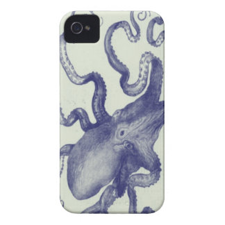 vintage blue octopus blackberry bold case