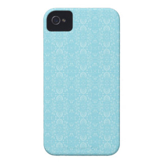 Vintage Blue Pattern iPhone 4 Case