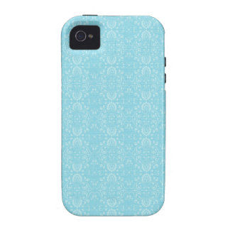 Vintage Blue Pattern Vibe iPhone 4 Case