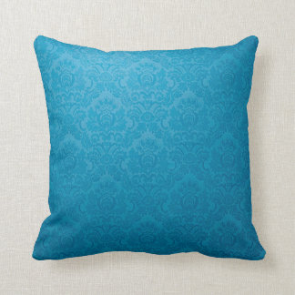 Vintage Blue Swagger Royale Pattern Throw Pillow