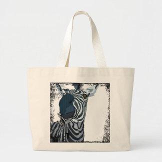 Vintage Blue Zebra Art Bag
