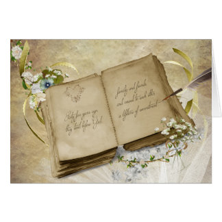 Vintage book for 65th Wedding Anniversary Card