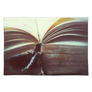 vintage book open placemat