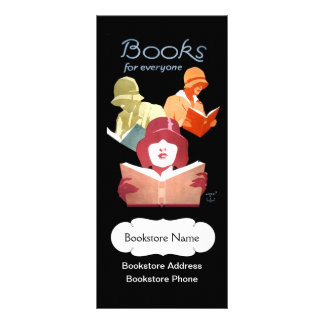 Vintage Book Store or Library Personalized Customized Rack Card