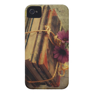 Vintage Books, Flowers Case iPhone 4 Cover