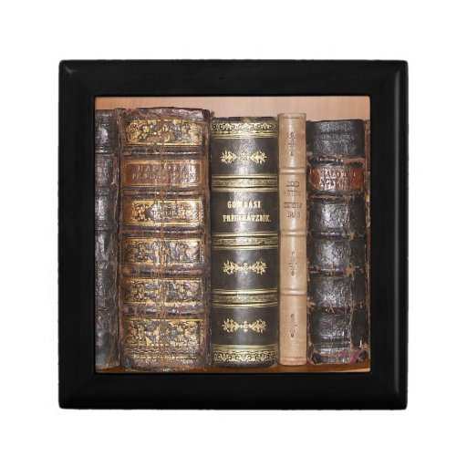 Vintage books jewelry box