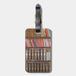 Vintage Books Tag For Luggage