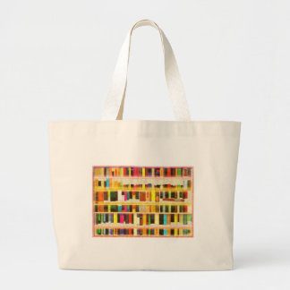 Vintage Bookshelf n Books Tote Bag