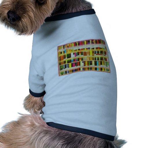 Vintage Bookshelf n Books Dog Shirt