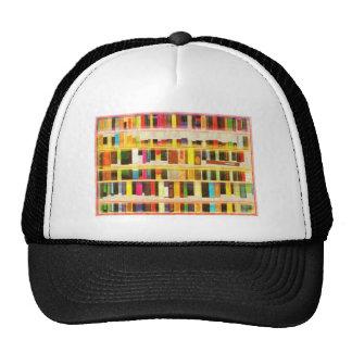 Vintage Bookshelf n Books Mesh Hats