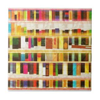Vintage Bookshelf n Books Tile