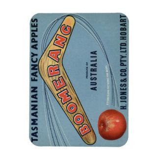 Vintage boomerang crate label magnet