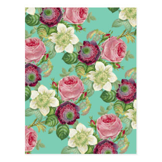 Vintage Botanical Blossom Country Chic Postcard