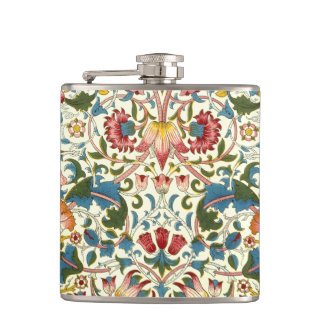 Vintage Botanical Morris Design Hip Flask
