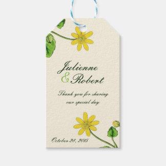 "Vintage botanical wedding ""Thank You"" favour tag"