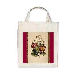 Vintage Botantical Illustration Tote Bags