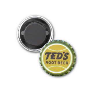 """Vintage bottle cap Label-TEDS ROOT BEER"" Magnet"