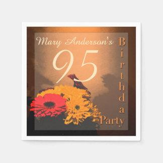 Vintage Bouquet - 95th Birthday Paper Napkins