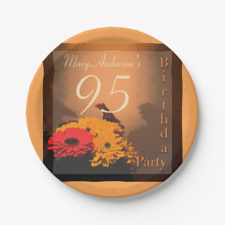 Vintage Bouquet - 95th Birthday Party Paper Plates 7 Inch Paper Plate