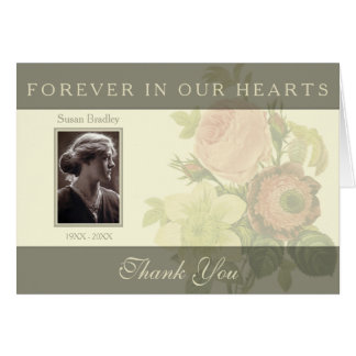 Vintage Bouquet with frame Sympathy Thank You N Card