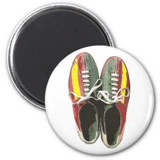 Vintage Bowling Shoes Retro Bowling Shoe 6 Cm Round Magnet