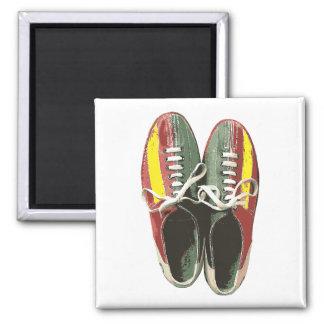 Vintage Bowling Shoes Retro Bowling Shoe Fridge Magnet