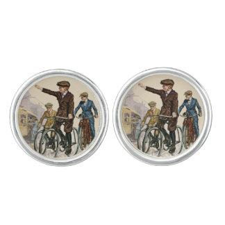 Vintage Boy Cyclists Cufflinks
