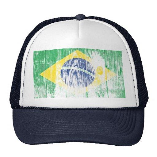 Vintage Brazilien national flag Cap Hats