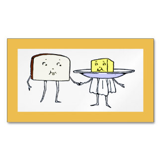 Vintage Breat and Butter Love Magnetic Card Magnetic Business Cards