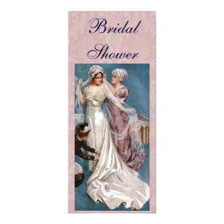 Vintage Bridal Shower 4x9.25 Paper Invitation Card