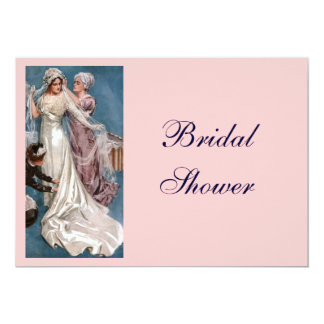 Vintage Bridal Shower 5x7 Paper Invitation Card