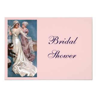 Vintage Bridal Shower 13 Cm X 18 Cm Invitation Card