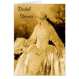Vintage Bridal Shower Invitation Greeting Card