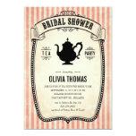 Vintage Bridal Shower Tea Party Invitations 13 Cm X 18 Cm Invitation Card