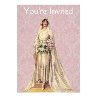 Vintage Bride 13 Cm X 18 Cm Invitation Card