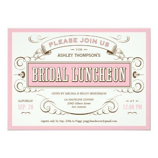 Vintage Bridesmaid Luncheon Invitations