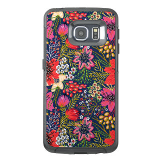 Vintage Bright Floral Pattern Fabric