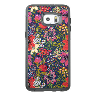 Vintage Bright Floral Pattern Fabric OtterBox Samsung Galaxy S6 Edge Plus Case