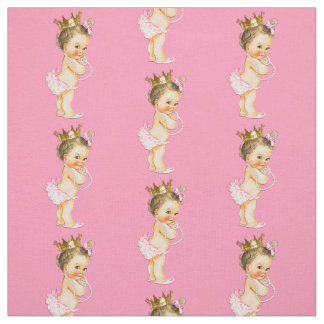 Vintage Brunette Little Princess Fabric