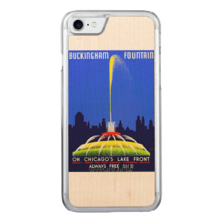 Vintage Buckingham Fountain WPA Poster Carved iPhone 7 Case