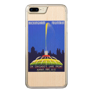 Vintage Buckingham Fountain WPA Poster Carved iPhone 8 Plus/7 Plus Case