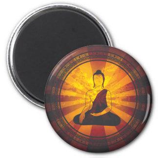 Vintage Buddha 6 Cm Round Magnet