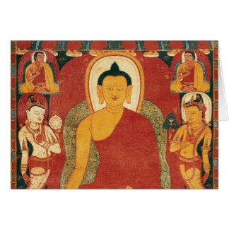 Vintage Buddha Painting Card