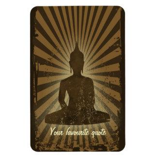 vintage Buddha Rectangular Photo Magnet