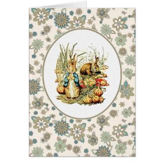 Vintage Bunnies. Easter Cards Greeting Card