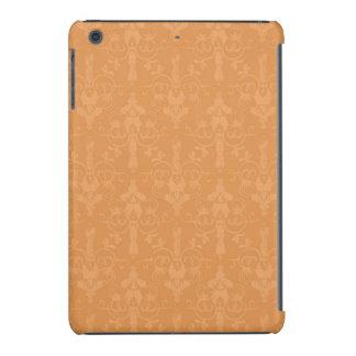 Vintage Burnt Orange Damask Pattern iPad Mini Retina Covers