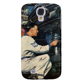 Vintage Business Auto Mechanic, Car Repair Service Galaxy S4 Case